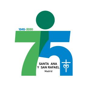 Logotipo 75 aniversario - Colegio Santa Ana y San Rafael