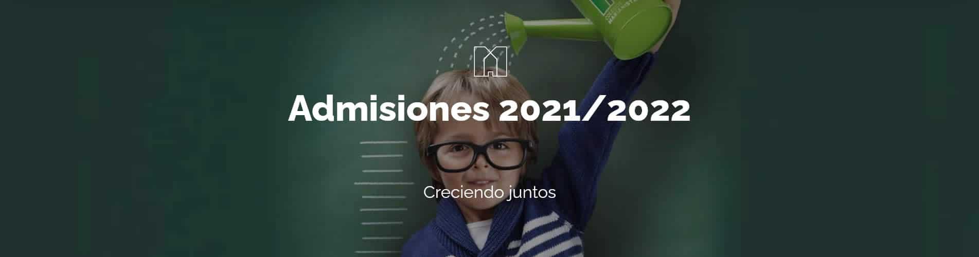 Toda la información sobre el proceso de admisión 2021/2022
