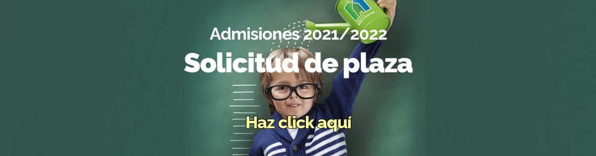 Solictud de plaza para el curso 2021/2022