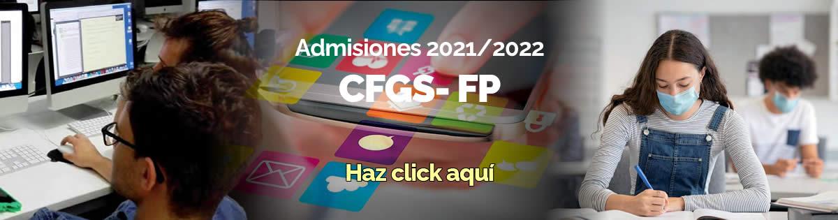 Proceso de admisión CFGS-FP curso 2021/2022
